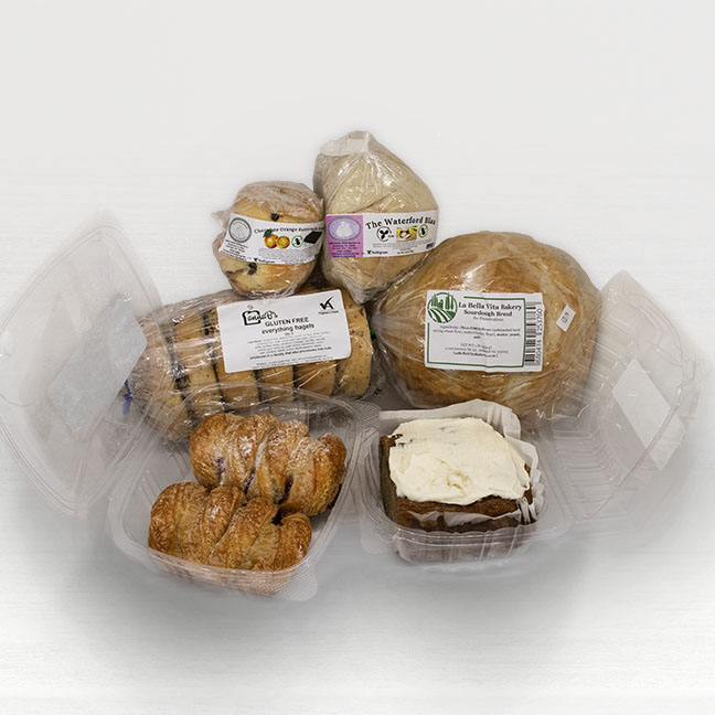 A collection of baked goods offered by Seasonal Roots
