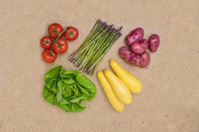A variety of Seasonal Roots found in the Easy basket